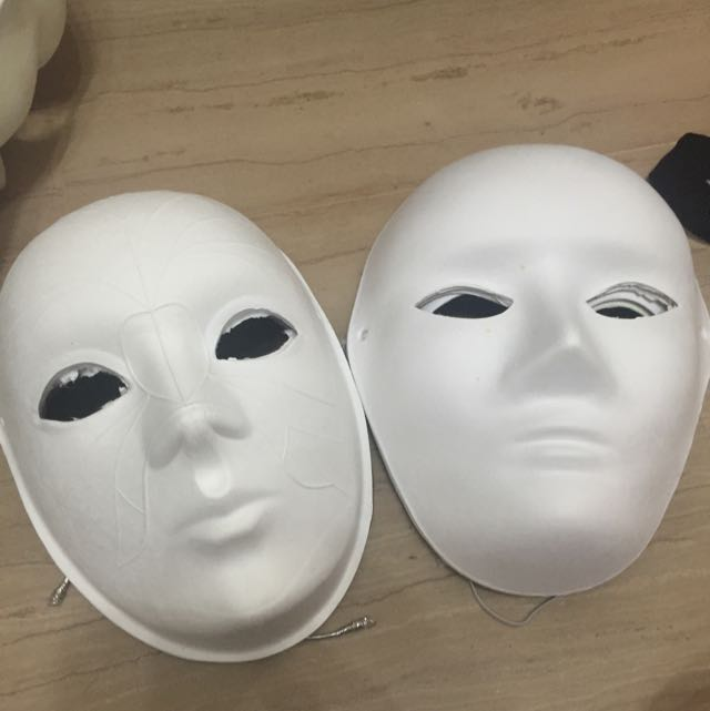 white craft masks design craft craft supplies tools on carousell