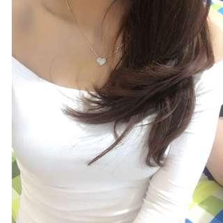 Sabrina Putih / Baju Putih / Kaos Putih