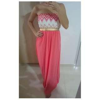 Grecian Maxi Tube Dress