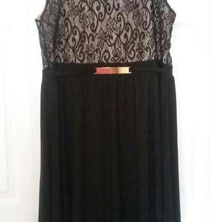 Bnwt 2x Beautiful High Low Black Dress