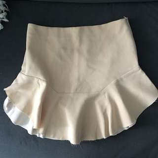 Zara Pencil Skirt With Ruffle