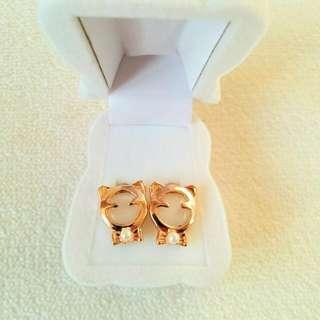 Kids Earrings In Velvet Holiday Teddy Bear Jewellery Box