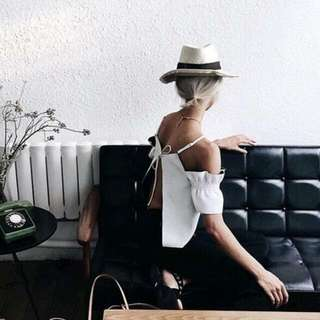 High Neck + Off the Shoulder With Over Sized Sleaves
