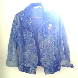 Acid Wash Denim Jacket Aus Size 10
