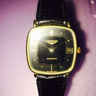 Authentic Black Longines Automatic Watch With Box. Call 93357777.