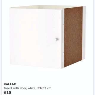 KALLAX Insert With Door (White)