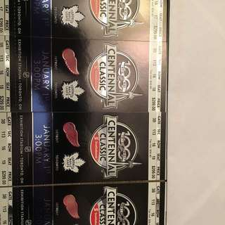 Centennial classic tickets - Maple Leafs