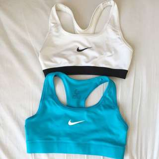 NIKE SPORTS BRA (Blue And White For $65)