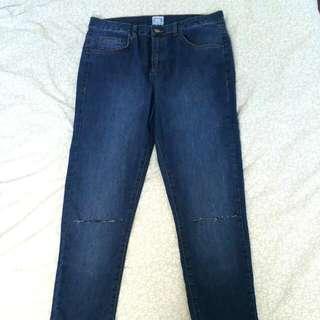 Denim Skinny Jeans Distressed Knee Aus Size 10-12
