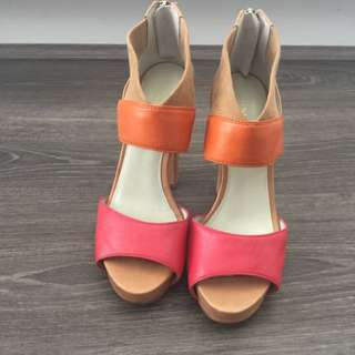 Nine West Size 36 Nude/peach Heels