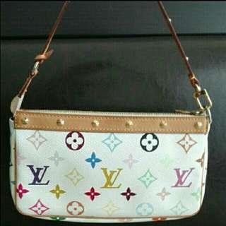 (Reduced)Authentic Louis Vuitton Multicolor Pochette