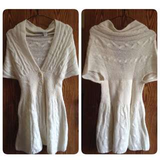 White Outer Bahan Wol