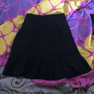 Preloved Mini Skirt Black Ada Fashion