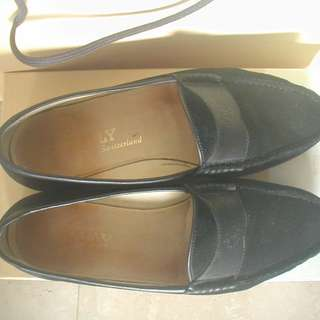 55431e55d2d BALLY of SWITZERLAND MENS Black Suede Shoes Size8 Model 8E 702723 09  NewSoles