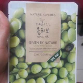 Nature Republic Olive Mask Php100 each 3pcs available