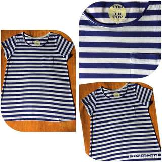 blouse stripe navy