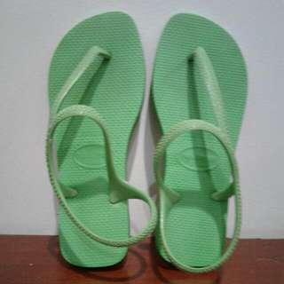 Preloved Flash Green Havaianas  Sandal