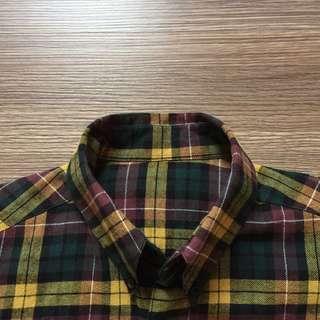 法蘭絨格子襯衫
