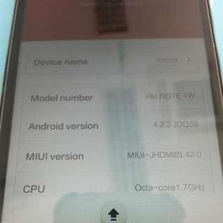 Reserved Xiaomi Note 1 HW (Dual Sim)