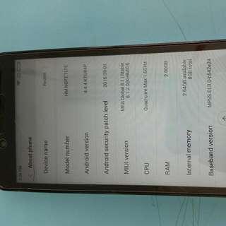 Reserved Xiaomi Note 1 Lte