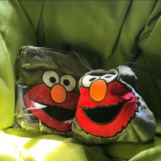 BNIB Elmo Pouch Drawstring