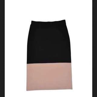 POL  Colourblock Pencil Skirt Size L 14
