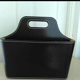 Authentic leather Newspaper Holder