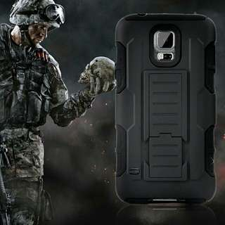 XMAS SALE - Military Grade Rugged Shockproof Phone Case Cover Protector With Kickstand And Belt Holster