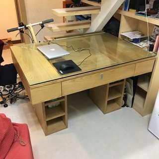 實木書桌 辦工桌