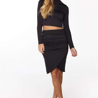 Brand New Black Wrap Skirt!