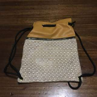 Pre Loved Yellow Draw String Bag
