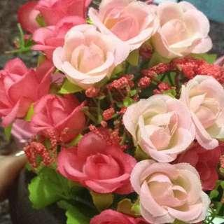 Mini Artificial Rose Pot