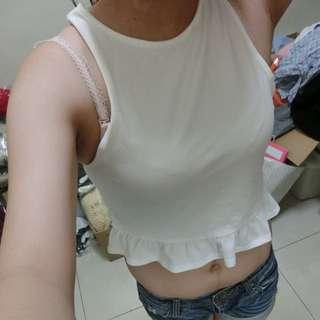 H&M短版白上衣(可換物)