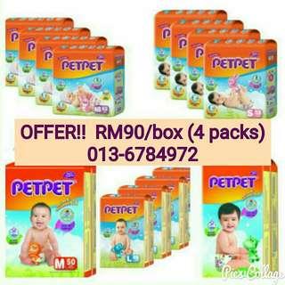 Petpet Jumbo Pack S-XL (4 Packs)