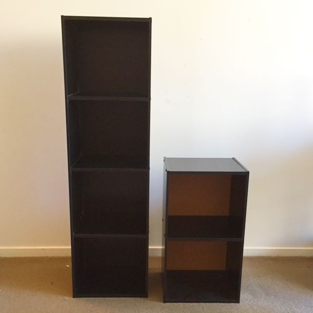 2 Black Shelves