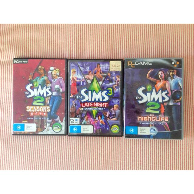 3 x Sims 2 & 3 Expansion Packs Bulk