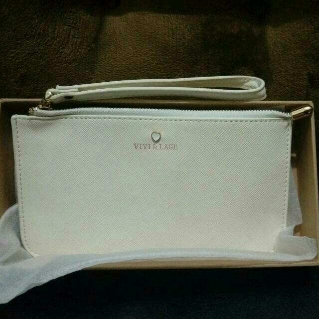 氣質白色手拿包