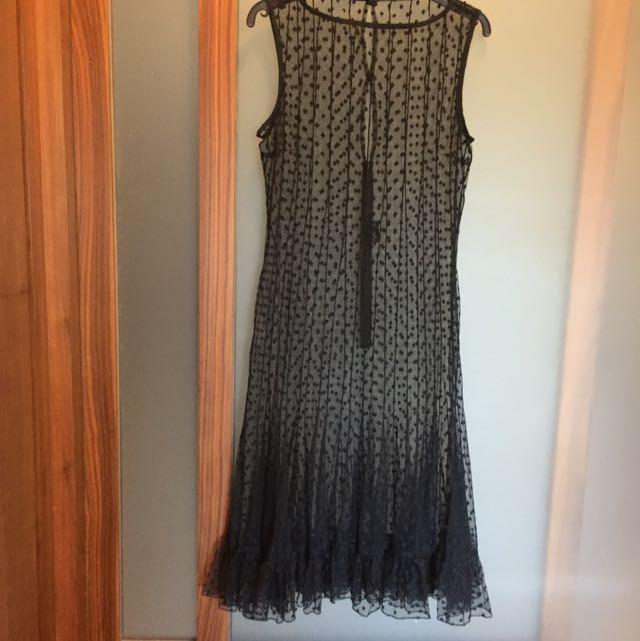 黑色蕾絲洋裝  透視感 #歲末感恩出清