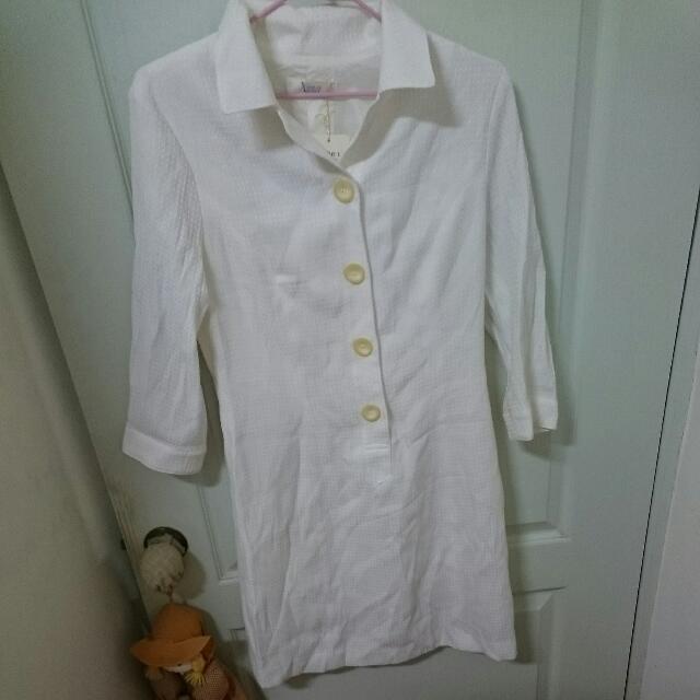 古著 Xing 全白洋裝