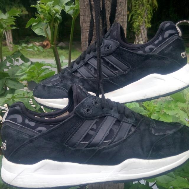 livraison gratuite 7918d dc508 Adidas Tech Super 2.0 Black/Black/White Vapour Leopard Print ...