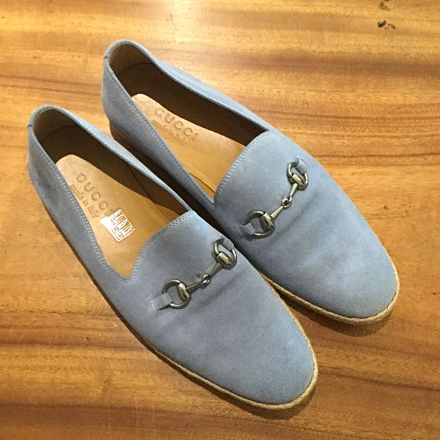 AUTHENTIC GUCCI Blue Suede Leather