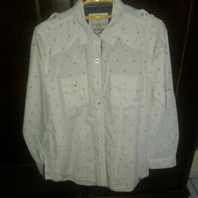 baju hem panjang  brand Nevada  ukuran S/M