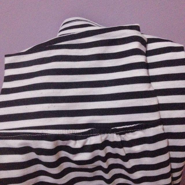 Black n White Stripes Long Skirt