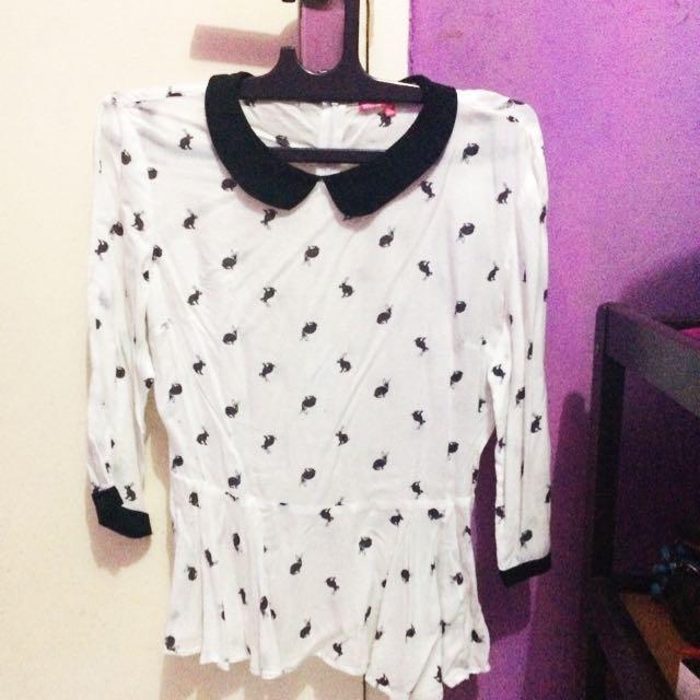 re-price blouse white!