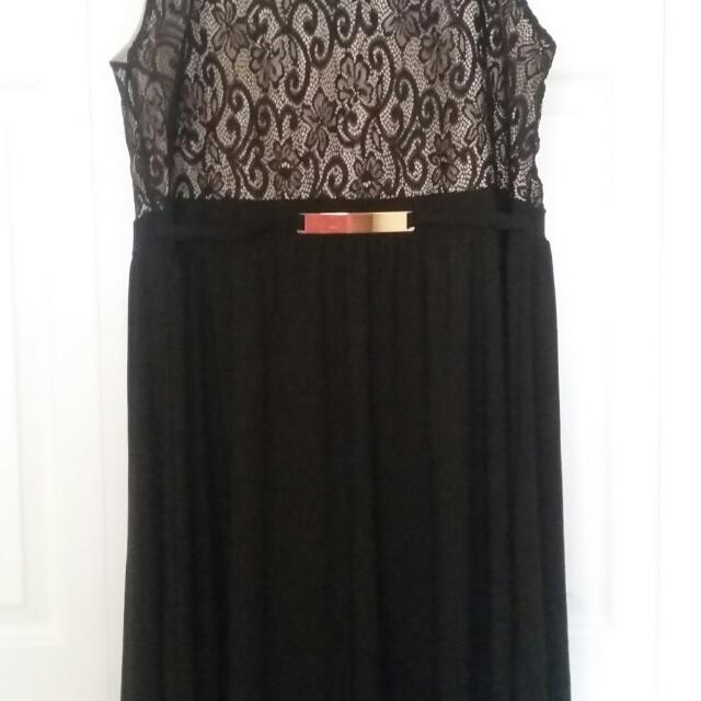 Bnwt 2x Beautiful High Low Black Dress