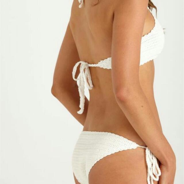 Brand New Medium Cotton On Crochet Halter Bikini Pair