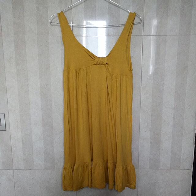 CHIC SIMPLE Yellow Dress