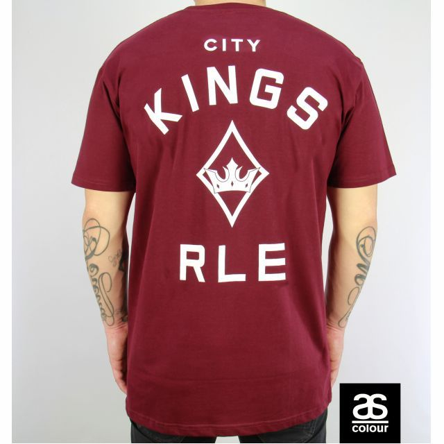 Christmas SALE! Roialle Diamond Crown burgendy tee