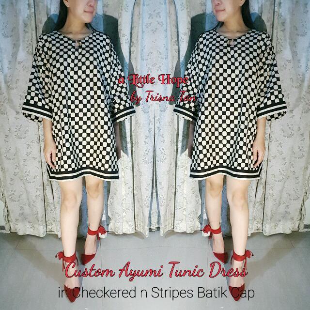 Custom Made Ayumi Tunic Dress Full Batik Cap