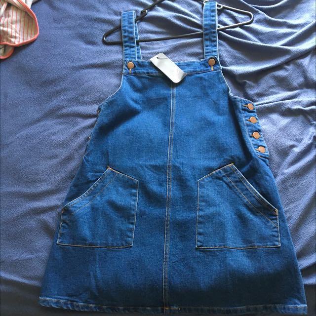 Denim Mini Dress Overall